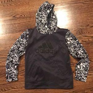 New wo tags Addidas hooded sweatshirt. Med 10/12